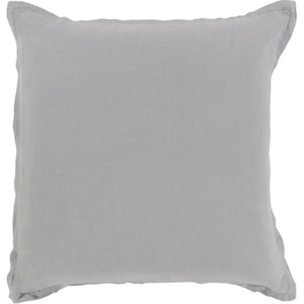 "20"" Thunder Cloud Gray Solid Decorative Throw Pillow - Down Filler"