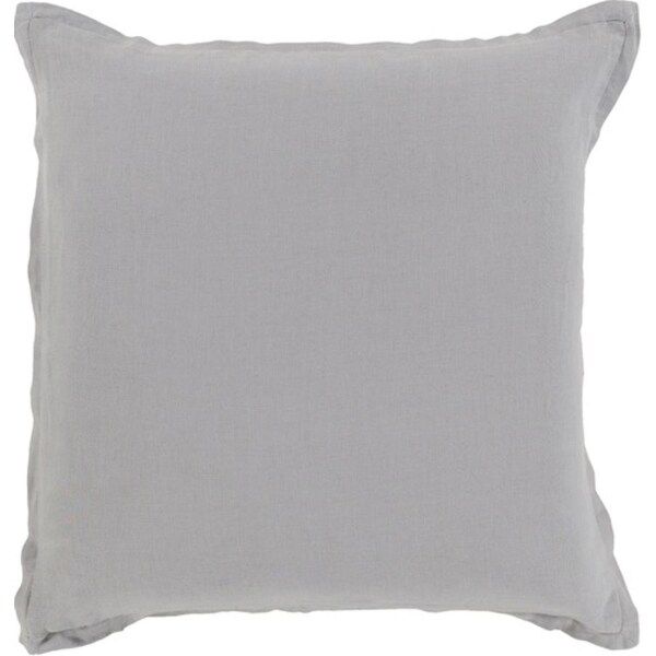 """20"""" Thunder Cloud Gray Solid Decorative Throw Pillow"""