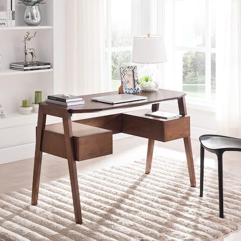 Carson Carrington Casella Midcentury Modern Writing Desk with Storage