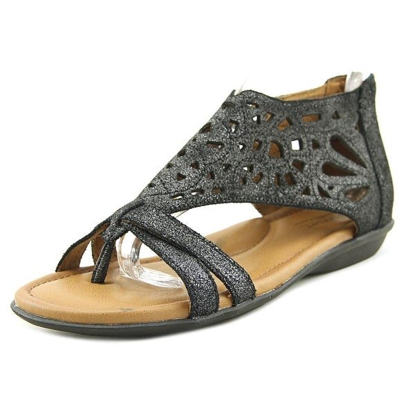 Rockport Jordan-CH Women Open Toe Leather Gray Thong Sandal