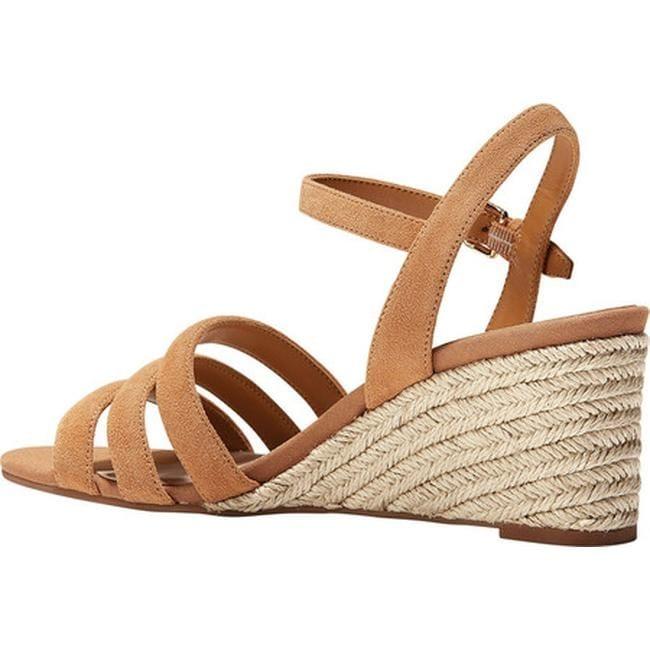 0b5002771c5 Cole Haan Women's Jasmine Espadrille Strappy Wedge Sandal Pecan Suede