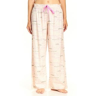 Hue NEW White Ivory Women's Size XL Sleep Love Slogan Lounge Pants