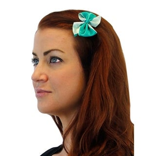 Playful Prance Two Toned Satin Hair Bow Pair