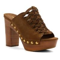MICHAEL Michael Kors Womens Westley Mule Leather Open Toe Mules
