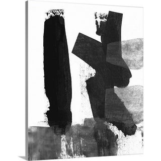 """""""Black and White Brush Stroke VII"""" Canvas Wall Art"""