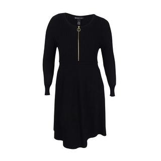 INC International Concepts Women's Plus Size Fit & Flare Sweater Dress