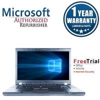 "Refurbished Lenovo ThinkPad T510 15.6"" Intel Core i5-520M 2.4GHz 4GB DDR3 120GB SSD DVD Win 10 Pro 64 (1 Year Warranty) - Black"