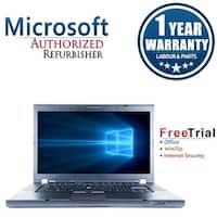 "Refurbished Lenovo ThinkPad T510 15.6"" Intel Core i5-520M 2.4GHz 8GB DDR3 1 TB DVD Win 10 Pro 64 (1 Year Warranty) - Black"