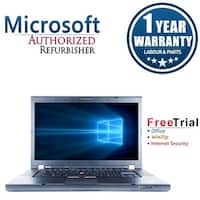 "Refurbished Lenovo ThinkPad T510 15.6"" Intel Core i5-520M 2.4GHz 8GB DDR3 240GB SSD DVD Win 10 Pro 64 (1 Year Warranty) - Black"