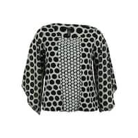 Alfani Women's Embellished Polka Dot Chiffon Sleeve Top