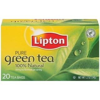 Lipton Pure Green Tea Bags 20 ct   (Pack of 6)