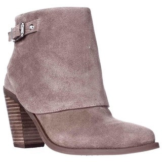 Jessica Simpson Caralyne Ankle Cuff Block Heel Booties - Totally Taupe