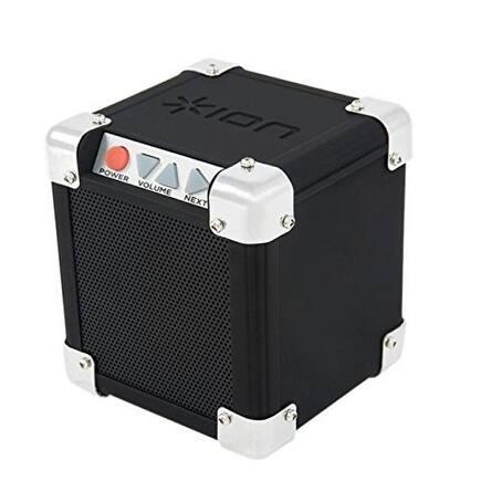 """ION Audio Rock Block, Palm-Sized Wireless Bluetooth Speaker with 1/8"""" Input (15W)"""