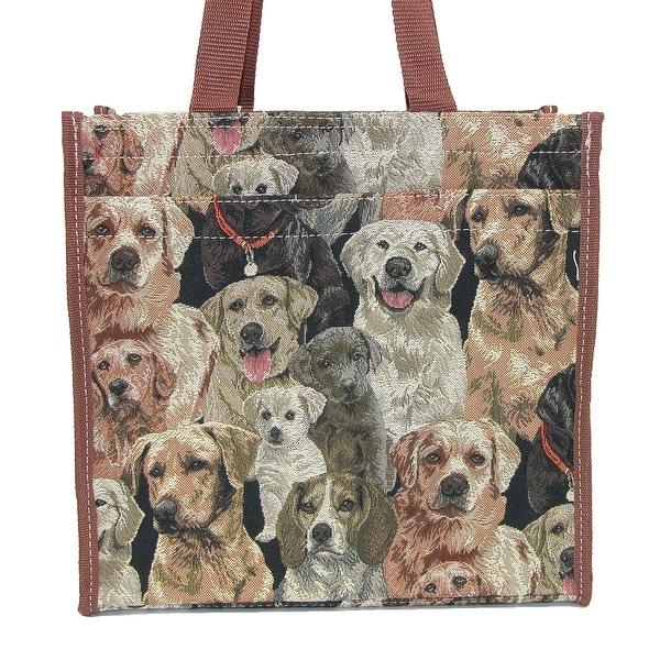 CTM® Tapestry Shopper Tote Handbag