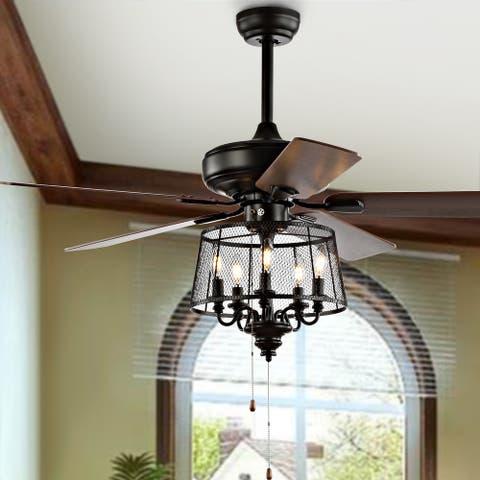 "Safavieh Lighting Jonie 52-inch Ceiling Fan and Light - 52"" W x 52"" L x 32"" H"