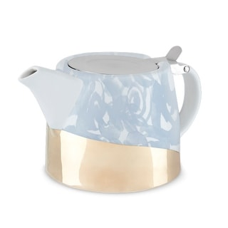 Harper Blue Floral Ceramic Teapot & Infuser by Pinky Up