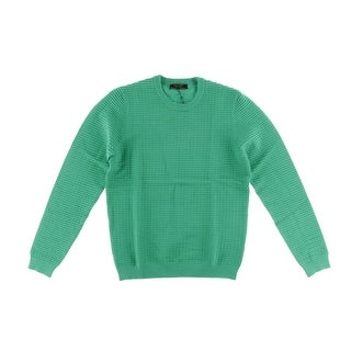 Zara Mens Textured Crew Neck Pullover Sweater