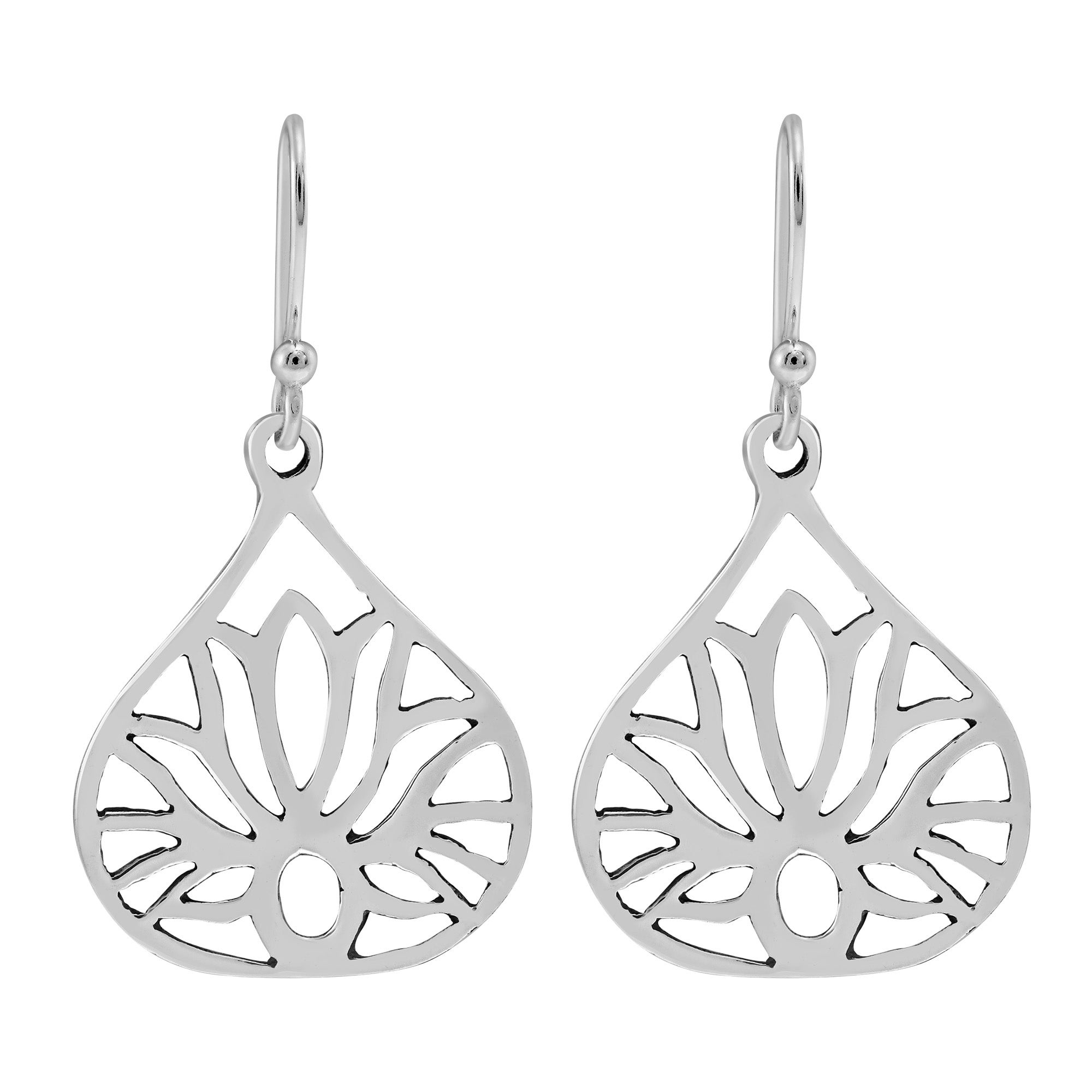 Handmade Jewelry Sterling Silver Earrings Lotus Flower Earrings Jewelry With Meaning Dangle Drop Earrings Turquoise Stone Earrings