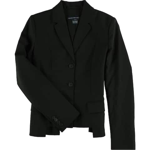 French Connection Womens Professional Three Button Blazer Jacket, black, 2