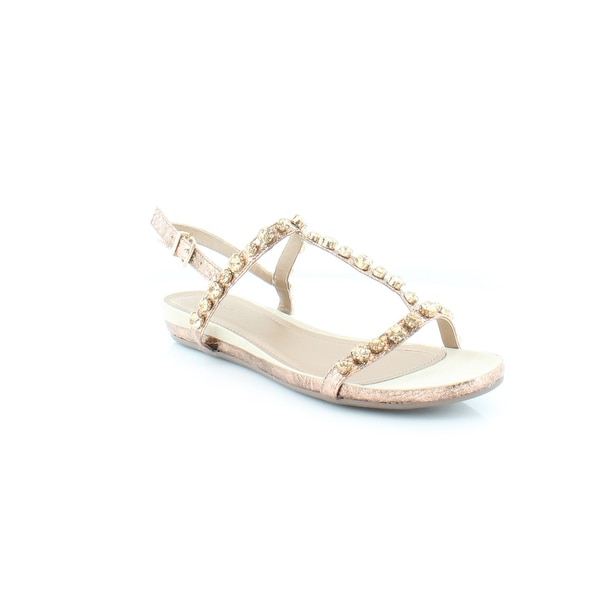 Kenneth Cole Reaction Lost Catch Women's Sandals & Flip Flops Rose Gold - 10