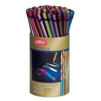 Derwent Metallic Colored Pencils with Tub, Assorted Colors, Set of 72
