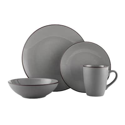 Pfaltzgraff Pierce Gray 16-Piece Dinnerware Set, Service for 4 - 16-pc Service for 4