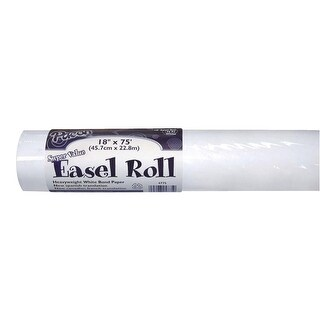 Pacon Super Value Adjustable Easel Paper Roll, 18 Inches x 75 Feet, White