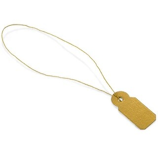 """Pack Of 100, 3/8 x 13/16"""" Solid Gold Jewelry Price Tag Made In Usa"""
