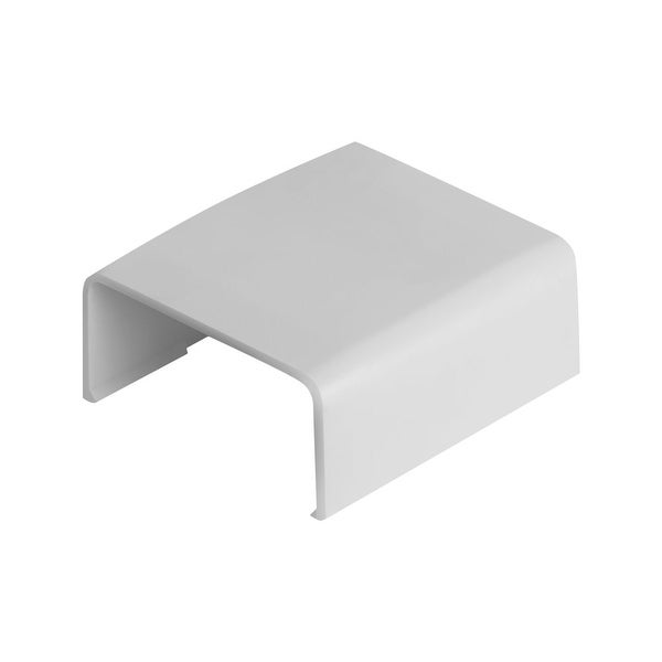 """Wire Trak Joint Cover for Raceway PVC White, 1 1/2"""" W x 3/4"""" H"""