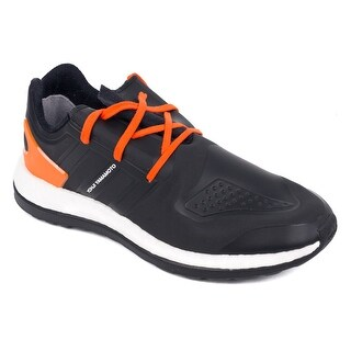 Y-3 Black PureBoost ZG Orange Accent Lace Front Low Top Sneakers
