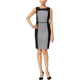 Nine West Womens Wear to Work Dress Colorblock Lined - 8