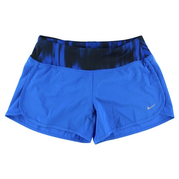 Shop Nike Womens Printed Waistband Running Shorts Blue - XS - Free Shipping  On Orders Over  45 - Overstock - 22613740 f62000366