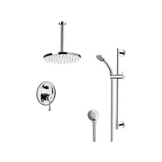 Nameeks SFR7014  Remer 2.5 GPM Multi Function Rain Shower with Handshower, Slide Bar and Rough In - Chrome