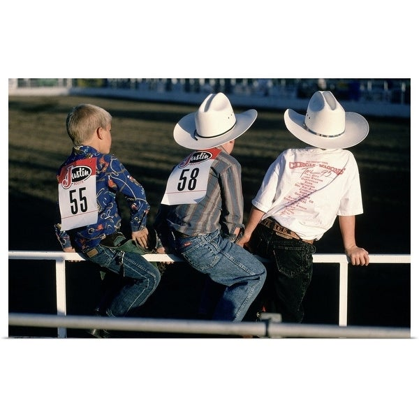 """""""Boys at the rodeo, Steamboat Springs, CO"""" Poster Print"""
