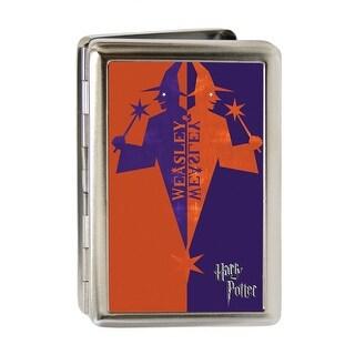 Harry Potter Weasley & Weasley Wizard Logo Fcg Orange Red Purple Business Business Card Holder