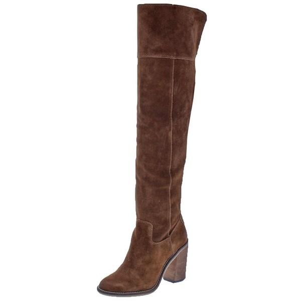 8d26171e23c Steve Madden Womens Orlando Over-The-Knee Boots Tall Almond Toe - 8 medium