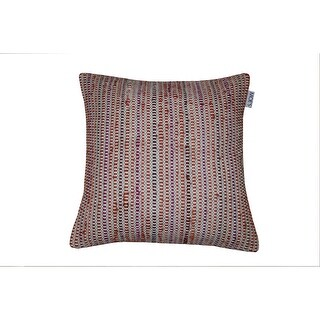 Moes Home Collection IE-1041 20 Inch Wide Square Cotton Throw Pillow - Red