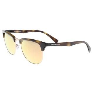 Emporio Armani OEA4072 50264Z Brown Round Sunglasses - 52-19-140