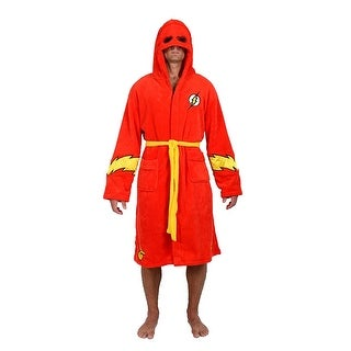 DC Comics The Flash Men's Hooded Fleece Robe
