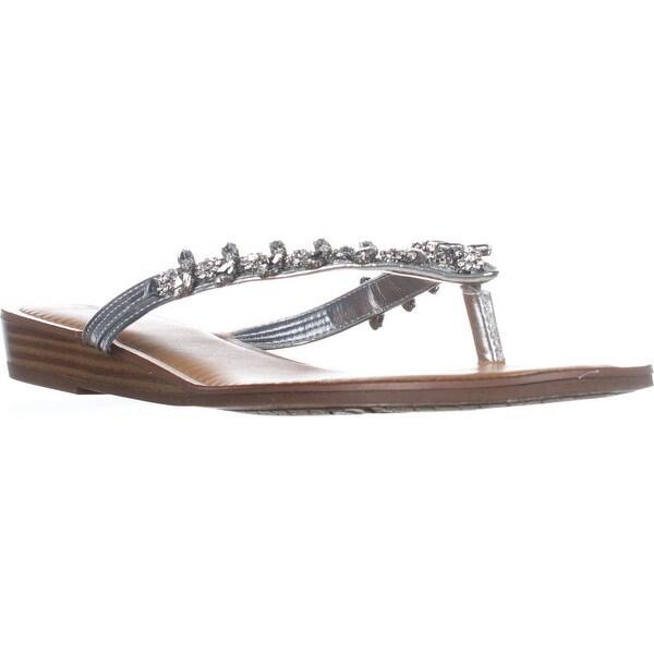 Carlos Carlos Santana Tereza Flats Sandals, Silver