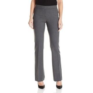 Anne Klein NEW Gray Women's Size 14 Bootcut Wool-Blend Dress Pants