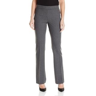 Anne Klein NEW Light Gray Heather Women Size 16 Flat Front Dress Pants