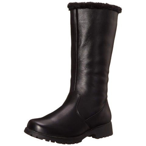 Propét Womens Madison Leather Round Toe Mid-Calf Cold Weather Boots