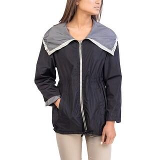 Prada Women's Nylon Reversible Jacket Black Grey