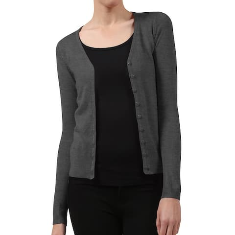 NE PEOPLE Womens Button Down Classic V Neck Cardigan Sweater [NEWJ91]