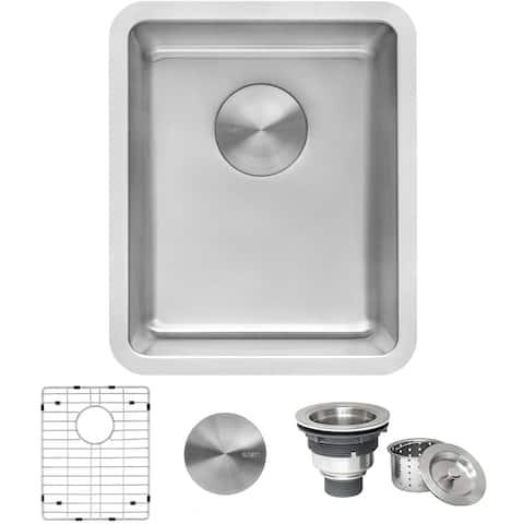 """Ruvati 12-inch Undermount Bar Prep Kitchen Sink 16 Gauge Stainless Steel Single Bowl - RVM5912 - 12"""" x 17-3/4"""""""