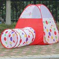 """Kids Children Play Tent Girls Pop Up Play House Tunnel House Size: 39.37""""x39.37""""x42.5"""" Tunnel Size: 18.89""""x43.3"""""""