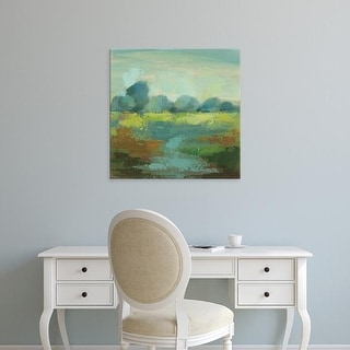 Easy Art Prints Silvia Vassileva's 'Windsor Blue Field III' Premium Canvas Art