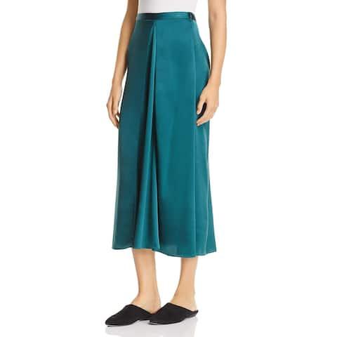 Eileen Fisher Womens Godet Skirt Silk Midi