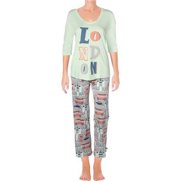 Shop Munki Munki Womens Fancy Drinks Pajama Set Flannel -8316